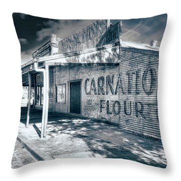 Throw Pillow featuring the photograph General Store by Wayne Sherriff