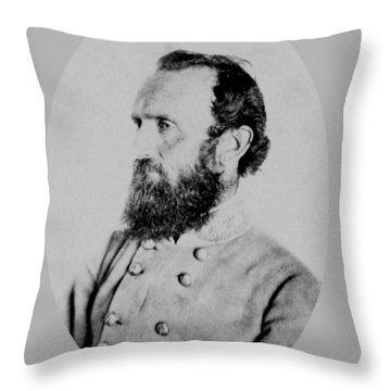 General Thomas Stonewall Jackson Photo Throw Pillow