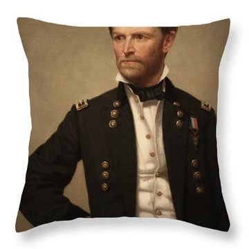 General William Tecumseh Sherman Throw Pillow