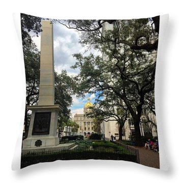 Historic Savannah Throw Pillow by Janel Cortez