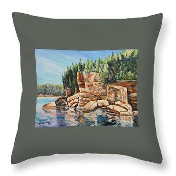 Georgian Beauty Throw Pillow by Heather Kertzer