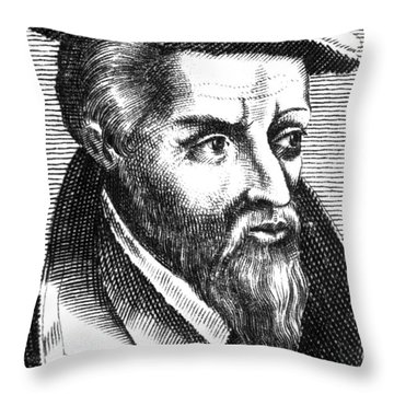 Georgius Agricola, German Scholar Throw Pillow by Science Source