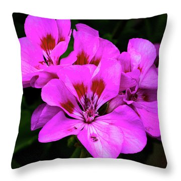 Throw Pillow featuring the photograph Geranium by Michael Friedman