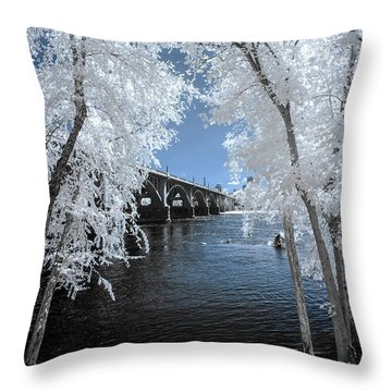 Gervais St. Bridge In Surreal Light Throw Pillow