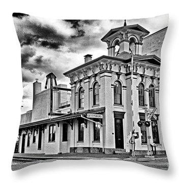 Gettysburg Train Station - Lincoln Throw Pillow