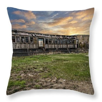 Throw Pillow featuring the photograph Ghost Train by Scott Read