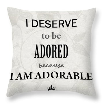 Gilda-gram Decor IIi Throw Pillow