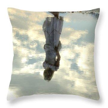 Girl And The Sky Throw Pillow by Joana Kruse