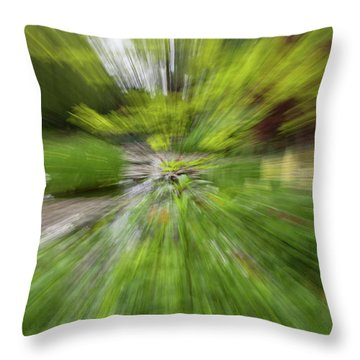 Giverny Monet's Garden Throw Pillow