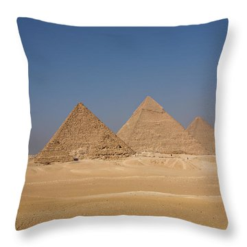 Giza Pyramids Throw Pillow by Aivar Mikko