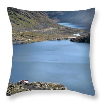Glacial Lake Throw Pillow by Jim Hill