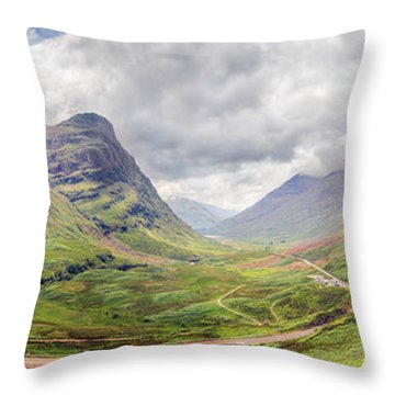 Glencoe Panorama Throw Pillow by Ray Devlin