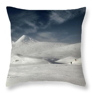 Throw Pillow featuring the photograph Glencoe Winter Landscape by Grant Glendinning