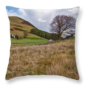Throw Pillow featuring the photograph Glendevon In Central Scotland by Jeremy Lavender Photography