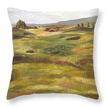 Gleneagles Queens Course Throw Pillow