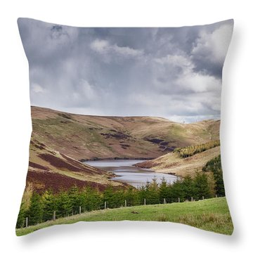Throw Pillow featuring the photograph Glensherup Reservoir by Jeremy Lavender Photography