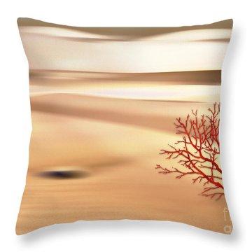 Throw Pillow featuring the digital art Global Warming by Klara Acel