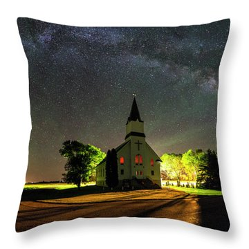Throw Pillow featuring the photograph Glorious Night by Aaron J Groen