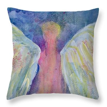 Glowing Angel Throw Pillow by Jeanne MCBRAYER