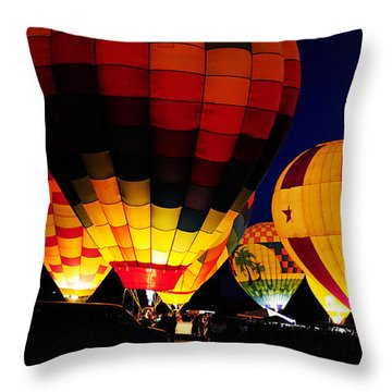 Glowing Throw Pillow by Clayton Bruster