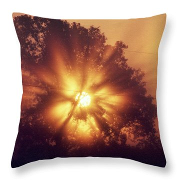God Is Light Throw Pillow