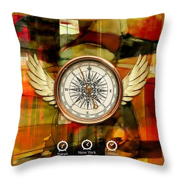 Throw Pillow featuring the mixed media Going Somewhere by Marvin Blaine
