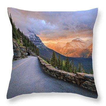 Going To The Sun Throw Pillow