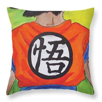 Goku Kanji Throw Pillow