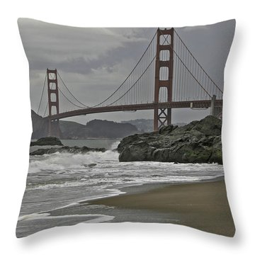 Golden Gate Study #1 Throw Pillow