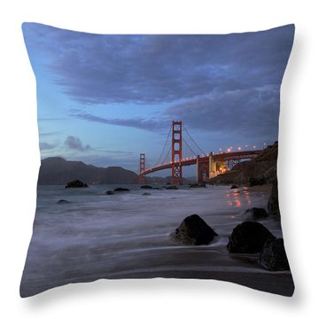 Throw Pillow featuring the photograph Golden Gate Bridge by Evgeny Vasenev