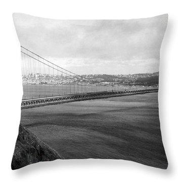Golden Gate Bridge Throw Pillow by Granger
