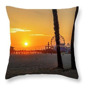 Golden Glow At Sunset Throw Pillow