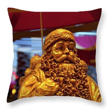 Golden Idol Throw Pillow