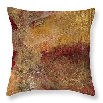 Golden Ruby Throw Pillow