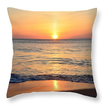 Throw Pillow featuring the photograph Golden Sunrise  by Barbara Ann Bell