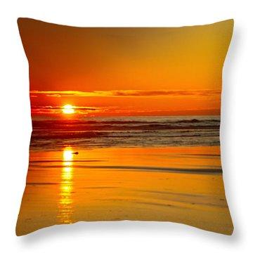 Golden Sunset Throw Pillow by Robert Bales
