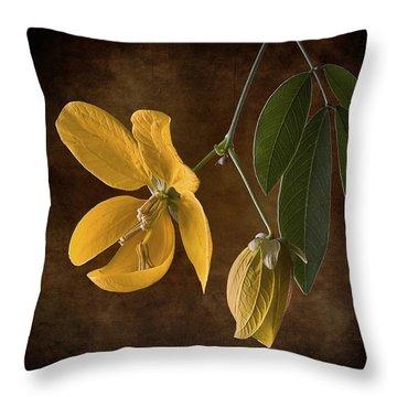 Golden Wonder Senna Throw Pillow by Endre Balogh