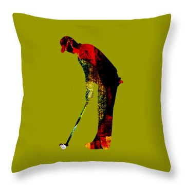 Golf Collection Throw Pillow by Marvin Blaine