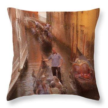 Gondola, Venice Italy Throw Pillow