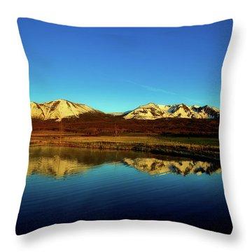 Good Morning Colorado Throw Pillow by L O C