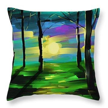 Good Morning Sunshine  Throw Pillow by Steven Lebron Langston