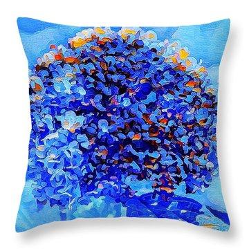 Got The Blues Throw Pillow