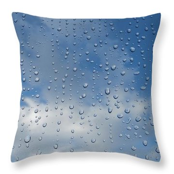 Throw Pillow featuring the photograph Gouttes by Marc Philippe Joly
