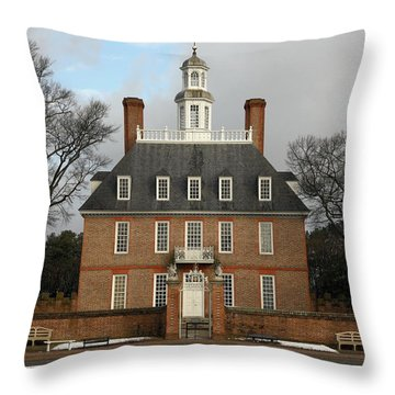 Governors Palace Throw Pillow by Sally Weigand