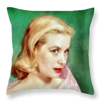 Grace Kelly By John Springfield Throw Pillow