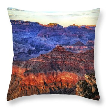 Grand Canyon Sunset Throw Pillow by James Bethanis