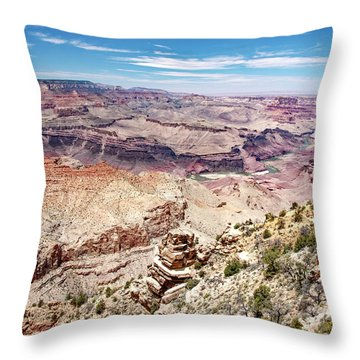 Grand Canyon View From The South Rim, Arizona Throw Pillow