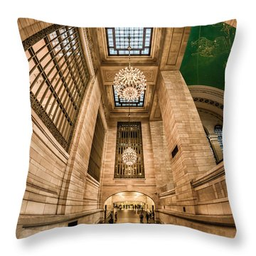 Throw Pillow featuring the photograph Grand Central Terminal Underpass by Rafael Quirindongo