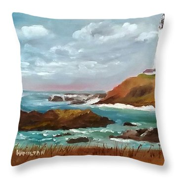 Grand Lighthouse Throw Pillow