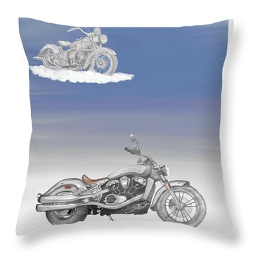 Throw Pillow featuring the drawing Grandson by Terry Frederick